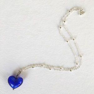 🆕 Listing!  Vintage | Glass Heart Necklace